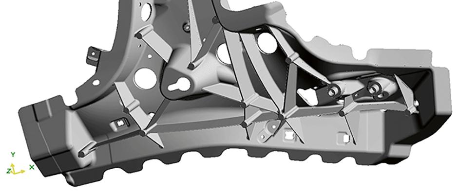Lätta komponenter med pressgjutning