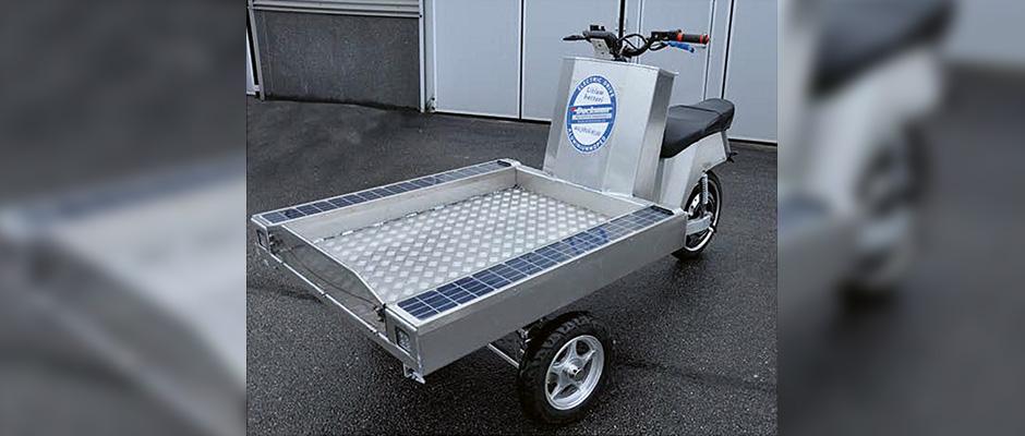 Eldriven aluminiummoped