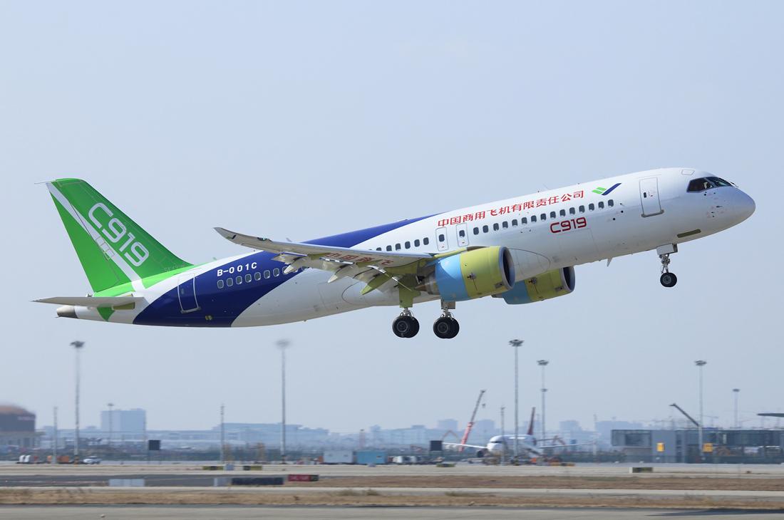 Kina utvecklar flygaluminium som lättar C919 med 15%